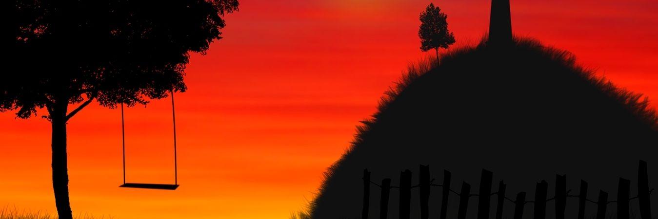 altai on sunset
